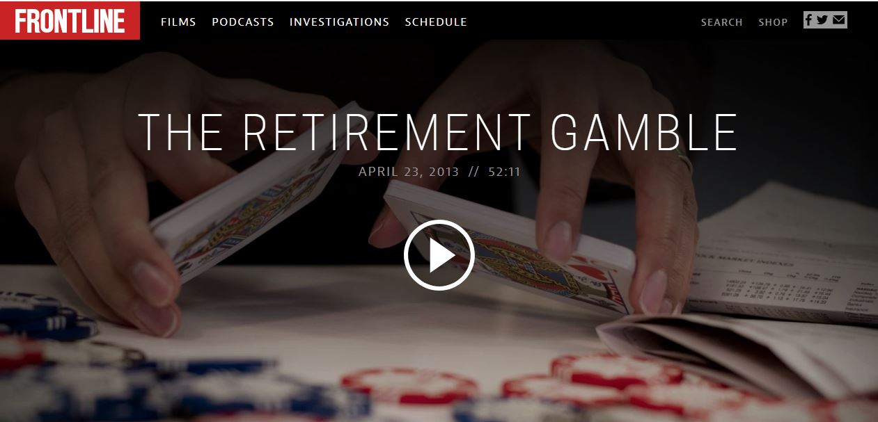 Pbs org frontline the retirement gamble best slot machines at the venetian